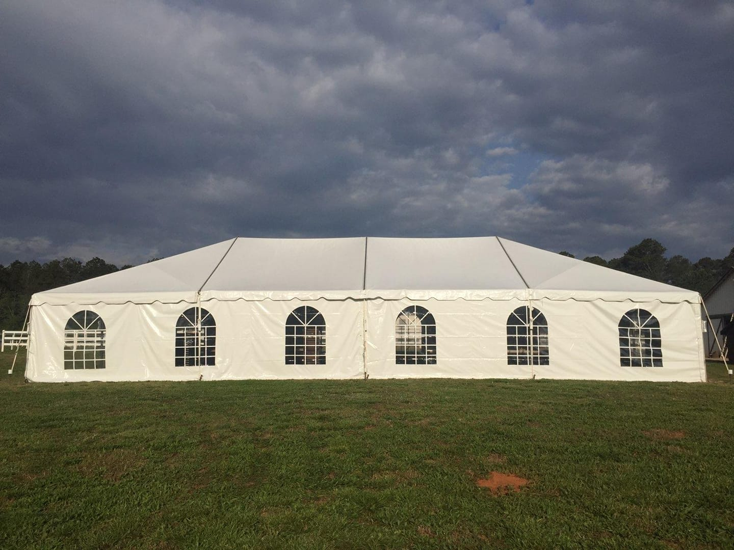 30x60 tent with window sidewalls
